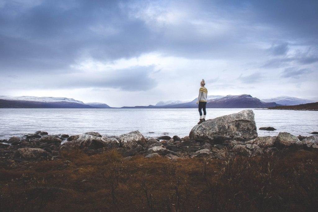 Kilpisjärvellä lokakuussa. Maisemat Norjaan päin.