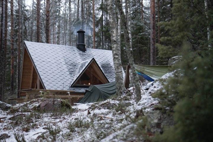 Yö ulkona talvella: Etelä-Konneveden kansallispuisto