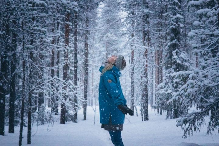 Lumisade ja pohdintaa kirjoittamisesta